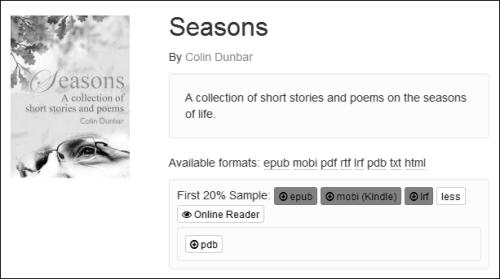 My book, Seasons, available at Smashwords