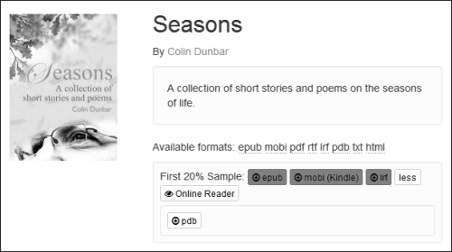 My book, Seasons, available at Smashwords